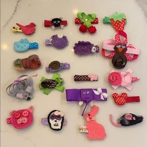 Hair clips galore!